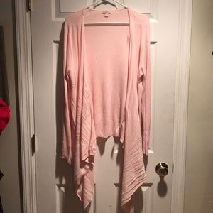 Merona pink asymmetrical cardigan